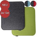 2er Set Filz Sitzkissen als Wendekissen ausgeführt in 3 verschiedenen Farbkombinationen Set als...