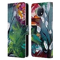 Head Case Designs オフィシャル ライセンス商品 Mai Autumn ナイト フローラルガーデン Xiaomi Redmi Note 9T 5G 専用レザーブックウォレット カバーケース