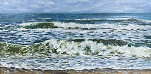 Meerbild Maritim Bild Landschaft Kunst Original Ölmalerei Gemälde 60x30 cm