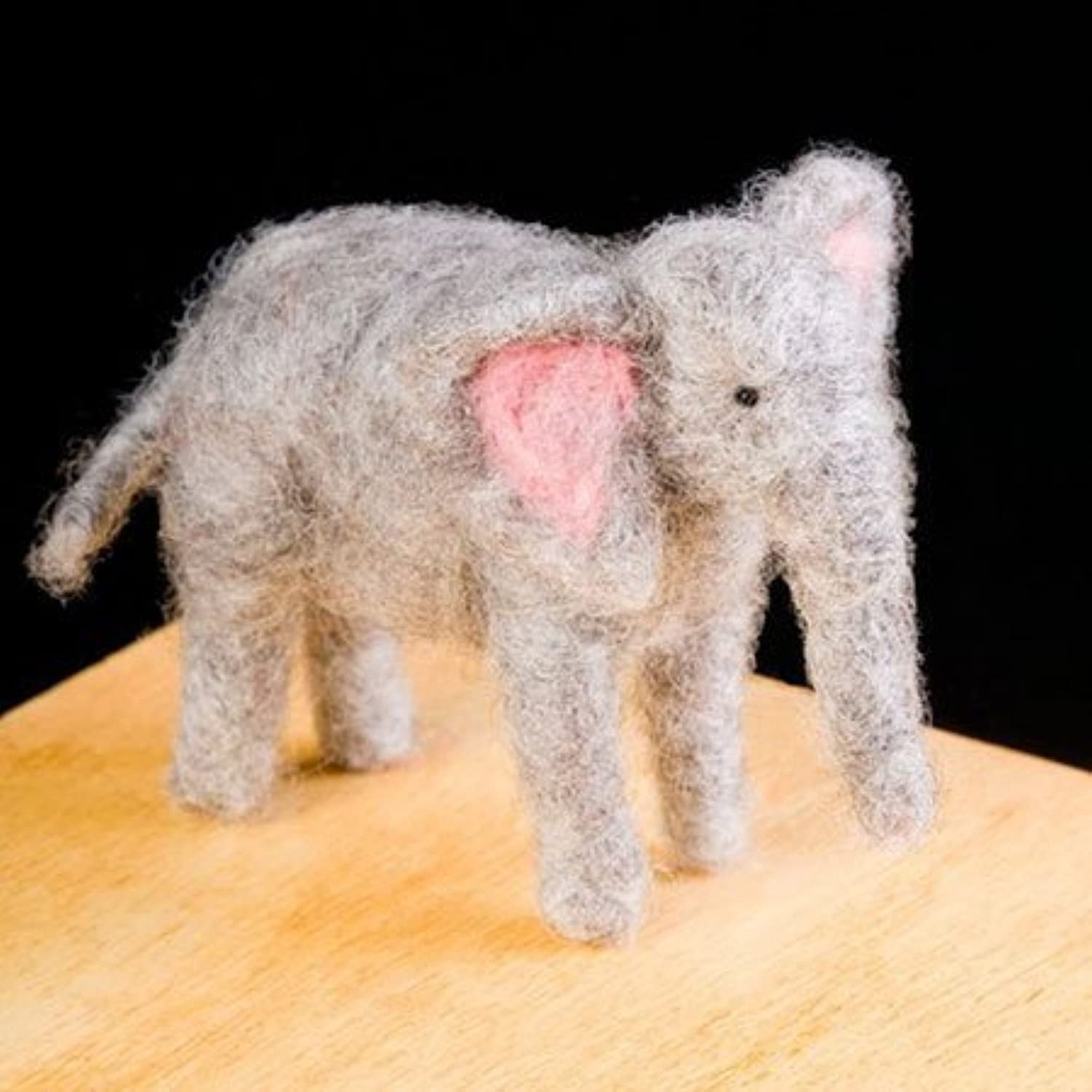 Elephant Wool Needle Felting Craft Kit by WoolPets. Made in the USA. by WoolPets