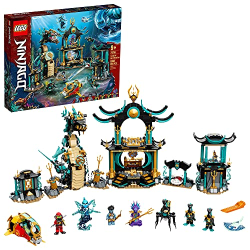 LEGO NINJAGO Temple of The Endless Sea 71755 Building Kit; Underwater Playset Featuring NINJAGO Kai and Snake Toy; New 2021 (1,060 Pieces)