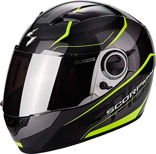 Scorpion Casco moto EXO-490 VISION Nero-Neon Giallo XL