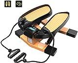 WANGCAI La Aptitud de Escalera Mini Paso Aire Subir escaleras Paso a Paso Máquinas de Ejercicios, la Aptitud aeróbica Paso a Paso con Bandas de Resistencia LCD Monitor de Carga de 150 kg