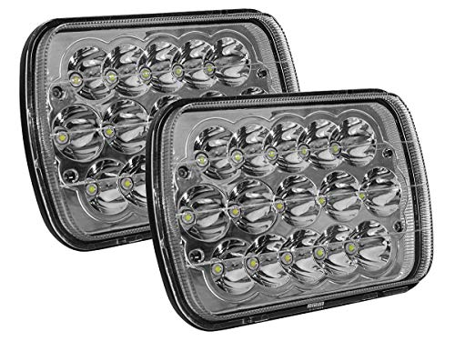 Par De Faros LED de 7 pulgadas H654 45w Luz Concentrada Blanca con 15 led