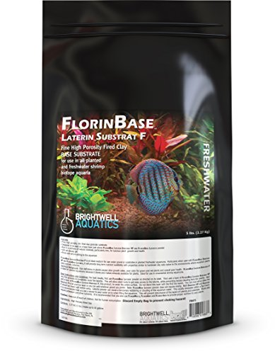 Brightwell Aquatics FlorinBase Laterin Substrat F - Fine Granular High Porosity Clay Base Substrate for Planted and Freshwater Shrimp Aquaria, 5 lbs