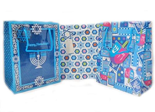Hanukkah Gift Bags - 6 Pack (Medium)