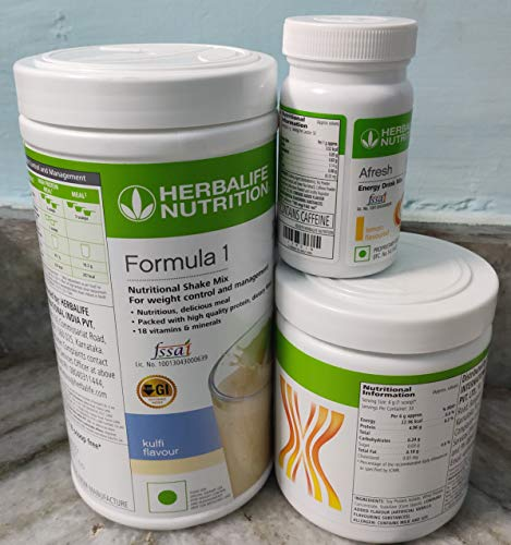 Herbalife formula 1(Kulfi) with Personalized Protein Powder(200gm)+Afresh(Lemon)