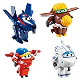 COLORBABY Lote 4 Super Wings transformables: Astra, Flip, Todd y Chace (Color Baby 85219)