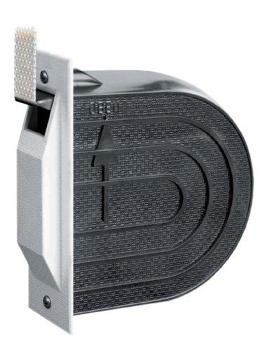 Schellenberg 50603 Einlaßwickler Mini inklusiv 5 m Gurt, weiß/ grau