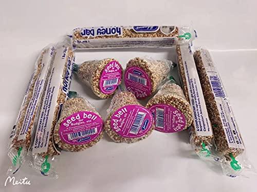 Perruche Miel Barres et Graines Cloches Assortiment Paquet