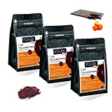 Eguia Cafe Molido Natural Cafe Granos Arabica, Cafe chocolate naranja - 3 Unidades de 250 g