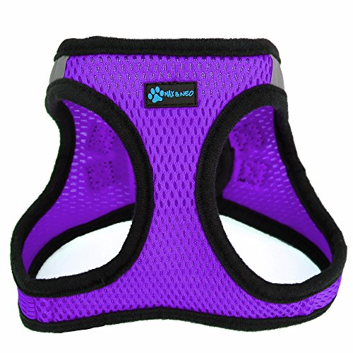 Max and Neo Nanu Small Dog Reflective Dog Harness - We Donate a Harness to a Dog Rescue for Every Harness Sold (Small, Purple)