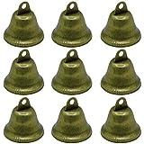 40 Pieces 38mm Vintage Bell Bronze Jingle Bells Craft Bells Vintage Door Bell Christmas Bell for Dog Potty Training, Housebreaking, Making Wind Chimes