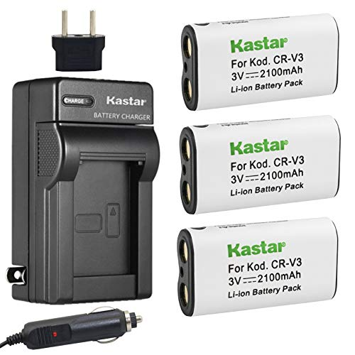 Kastar Battery 3-Pack and Charger for Canon PowerShot A60,70,75,300, Nikon Coolpix 600,700,800,950,990,2100,2200,3100,3200, Olympus, Pentax,Kodark, Sanyo, Digibino, Casion, Samsung Dig Max