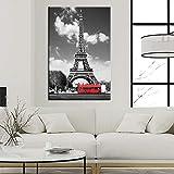 ganlanshu Paisaje de la Ciudad Moderna Pintura al óleo París Torre Eiffel Paisaje Pintura Mural decoración Regalo,Pintura sin Marco,60X90cm