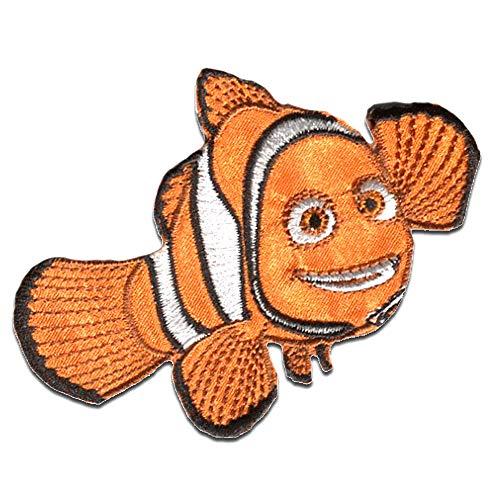 Ecusson - Le Monde de Dory 'Nemo 1' Disney - orange - 6,3x8,7cm - patches brode appliques embroidery thermocollant