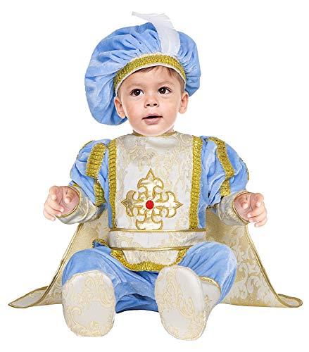 VENEZIANO Costume Carnevale da PRINCIPINO Lusso Vestito per Neonato Bambino 3-12 Mesi Travestimento Halloween Cosplay Festa Party 54183 6-9 Mesi