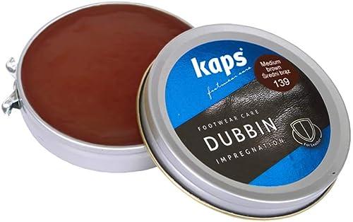 Kaps Dubbin, Cire de Qualité pour Chaussures en Cuir, Graisse pour Cuir, Soin Nourrissant et Imperméabilisant, 3 Coul...