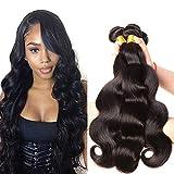 Ruiyu Unprocessed Brazilian Body Wave Virgin Hair Bundle Deals 8a Grade Weave Hair Human Hair Bundles Natural Color 3 Bundles Weaves Hair Extensions 20 22 24 Inches
