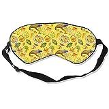 100% Silk Sleep Eye Mask, Thanksgiving Day Food Night Sleep Mask, Meditation With Adjustable Straps, Blocks Light, Suitable For Sleeping Travel Work Naps