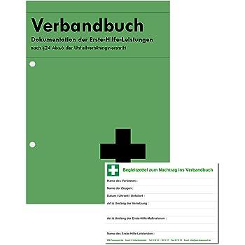 Verbandbuch / Unfallbuch Stand 2019 - DIN A5 + doppelte