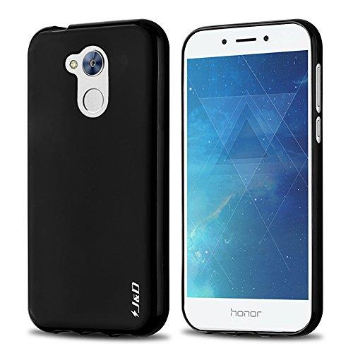 JundD Kompatibel für Huawei Honor 6A Hülle, [Leichtgewichtig] [Fallschutz] Stoßfest TPU Slim Hülle für Huawei Honor 6A - Schwarz