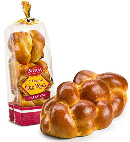 Traditional Braided Shabbat Challah Breads & Rolls | Fresh & Delicious | Great for Shabbat or any Holiday | 1 Challah Bread & 1 Pack of 6 Challah Rolls | 2-3 Day Shipping | Stern's Bakery