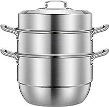 Sponsored Ad - Beeiee Steamer pot,Steamer for cooking,9 Quart,Food steamer,Veggie steamer,Dumpling steamer,Seafood steame...