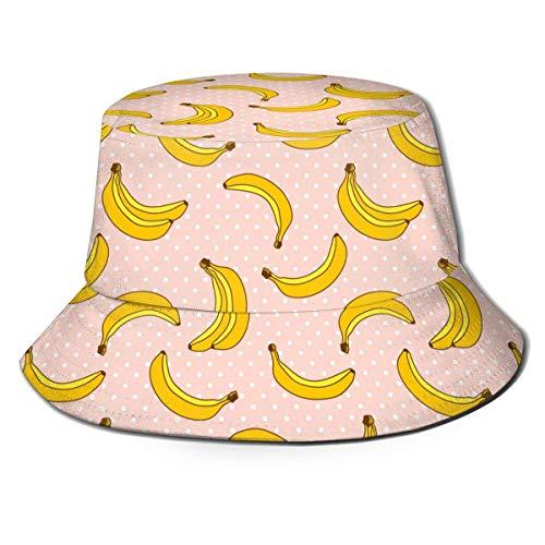 Henry Anthony Pink mit Bananenfrucht Unisex-Druck Eimer Hut Muster Fischer Hüte...
