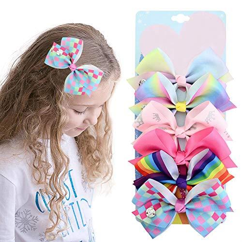 New Baby Girls Jojo PAILLETTES gros nœud Rainbow ruban épingle à cheveux épingle à cheveux avec