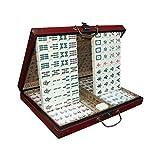 SHY Chinese Mahjong Juguetes y Juegos Ajedrez Majong Set Mah Jong Mah Jongg Sets Majiang, Estilo Grande/pequeño, Familia, Grande