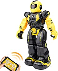 Elemusi Remote Wireless Control Robot for Kids Toys,Smart Programmable RC Robots with Singing,Dancing,Gesture Sensing Entertainment Robotics for Children
