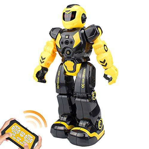 robots for students Elemusi Remote Wireless Control Robot for Kids Toys,Smart Programmable RC Robots with Singing,Dancing,Gesture Sensing Entertainment Robotics for Children