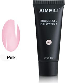 AIMEILI Pink Builder Gel Nail Extension 30ml Soak Off UV LED Nail Enhancement Manicure Tool Nail Art False Nails
