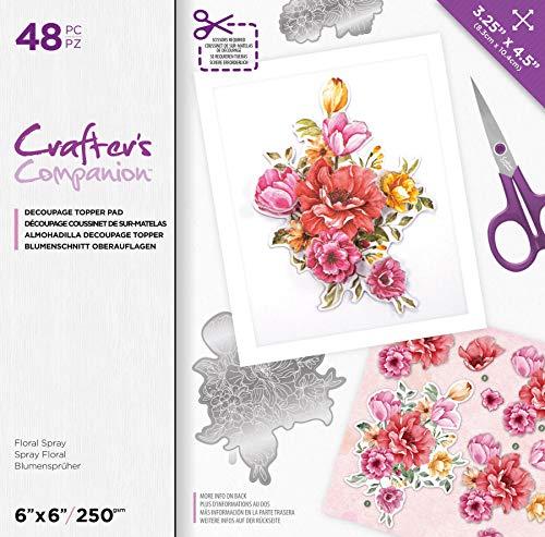 Crafters Companion CC-DTPAD-FLOSP Decoupage-Topper mit floralem Muster, multi, Einheitsgröße