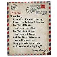 私の娘エクスプレス愛のブランケットへの手紙、ファジーソフトマイクロファイバーフランネル毛布ハグブランケット3D、150×200センチ印刷,C