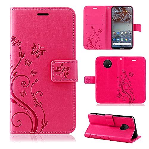 betterfon Nokia G20 / G10 Hülle, Handyhülle Nokia G10 / Nokia G20, Flip Hülle Klapphülle Schutzhülle Handytasche mit [Standfunktion] [Kartenfächern] für Nokia G20/G10 Pink