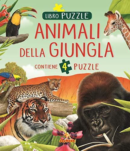 Animali della giungla. Libro puzzle
