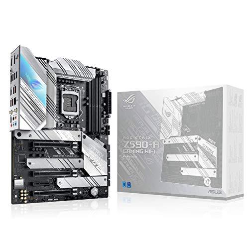ASUS ROG Strix Z590-A Gaming WiFi Mainboard Sockel Intel LGA 1200 (Intel Z590, ATX, 4x M.2, PCIe 4.0, USB 3.2 Gen 2x2, WiFi6, Aura Sync)