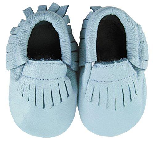 axy , Chaussures souple pour bébé (garçon) bleu 18-24 mois