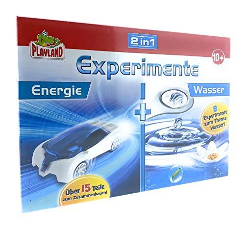Playland Experimente Experimentierkasten ab 8 Jahre 2 in 1 (Energie/Wasser)