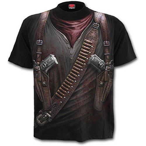 Spiral Direct Allover-Print T-Shirt, Schwarz, XXL