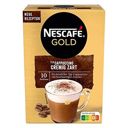 NESCAFÉ Gold Typ Cappuccino Cremig Zart, Getränkepulver aus löslichem Bohnenkaffee, koffeinhaltig, 1 x 140g (à 10 x 14 g Sticks)