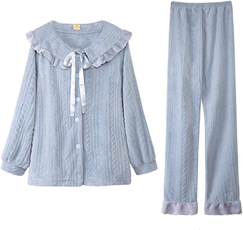NAN Liang Pajama Sets for Women, Long Sleeves Pajama Set, Ladies Pyjama Sets, Women Sleepwear 2 Pieces Soft (Size   S)