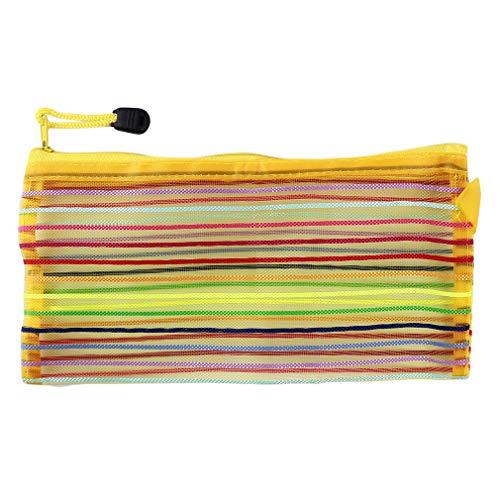 Faliya - Bolsa de maquillaje con cremallera, multifuncional para camping, color amarillo