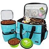 PetAmi Pet Travel Bag | Airline Approved Tote Organizer with Multi-Function Pockets, Food