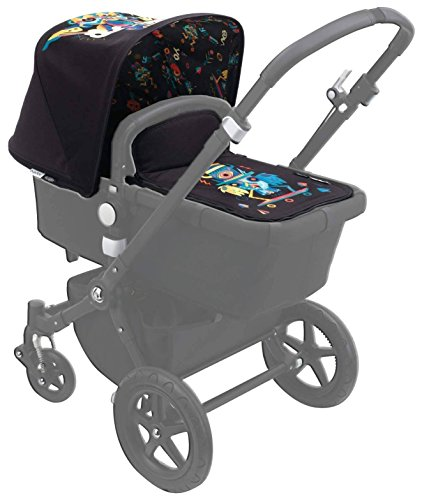 Bugaboo Buffalo X Niark1, Special Edition Tailored Fabric Set, Black