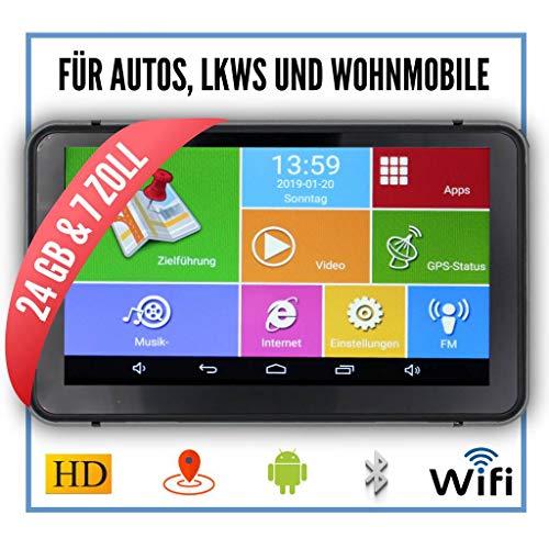 Elebest Pro A60 Navigationsgerät Großes 7 Zoll (17,8 cm) Touchscreen Display,Android,WiFi,Radar,Tablet PC,Für Wohnmobil,LKW,PKW,24GB Speicher,Bluetooth,Kostenlose Kartenupdate,GPS