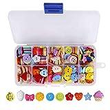 Botones Costura de Colores Mezclados Botones de Resina con Caja de Plástico para manualidades de DIY Coser Artesanía 235 unidades