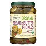 Woodstock Farms Organic Sweet Bread and Butter Pickle, 24 Ounce -- 6 per case.